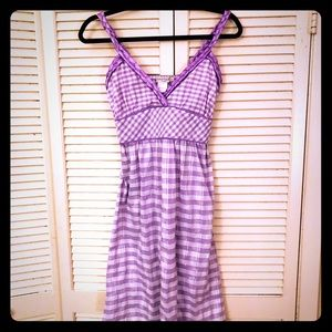 🎉$10 SALE🎉EUC VTG lavender gingham pinup dress